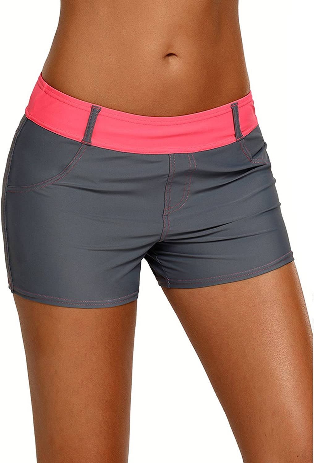 Pnfly Womens Swimming Trunks Bathing Suit Imitation Cowboy Casual Swimming Trunks