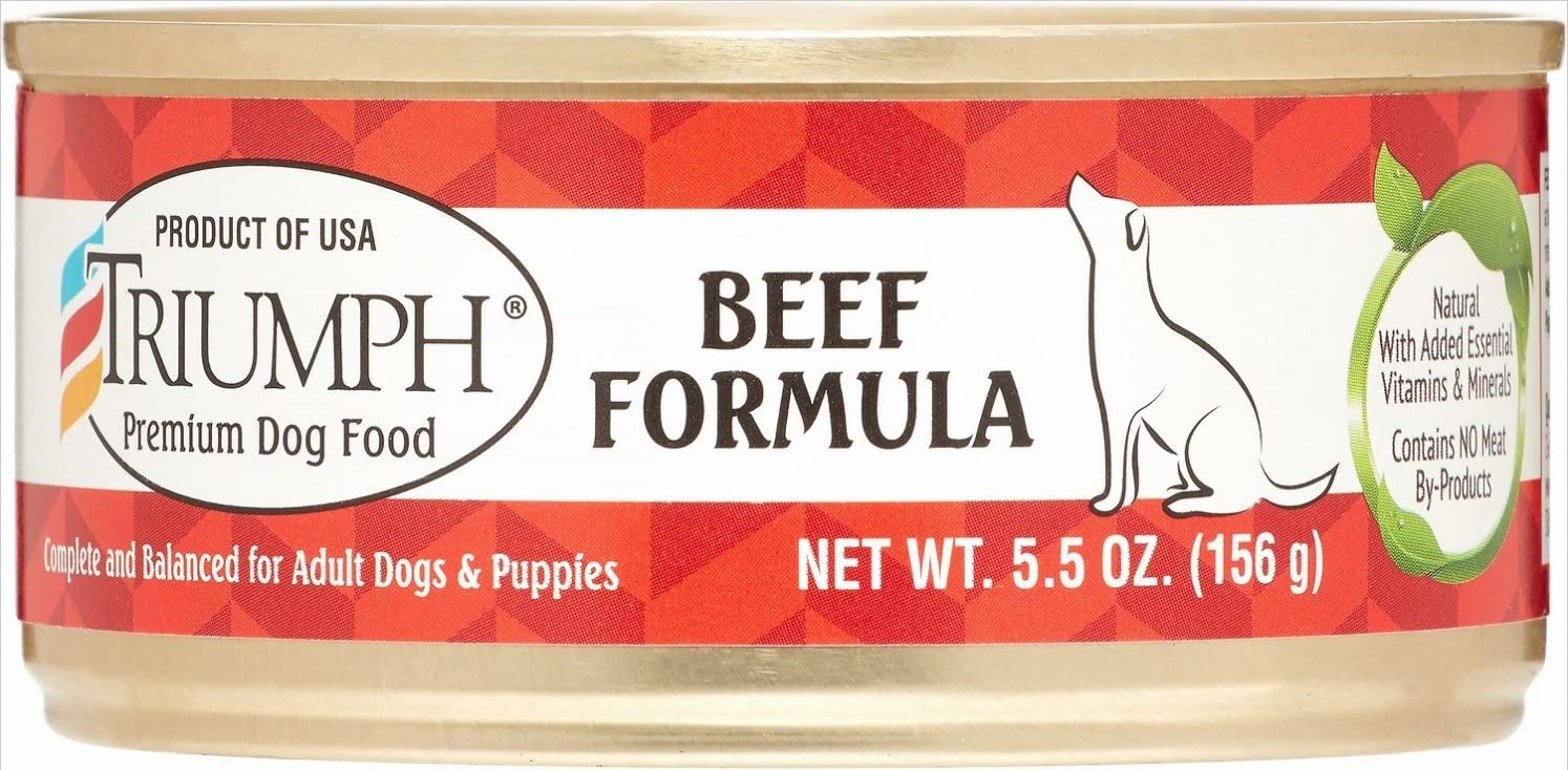 Triumph Beef Canned Dog Food, Case Of 24, 5.5 Oz.