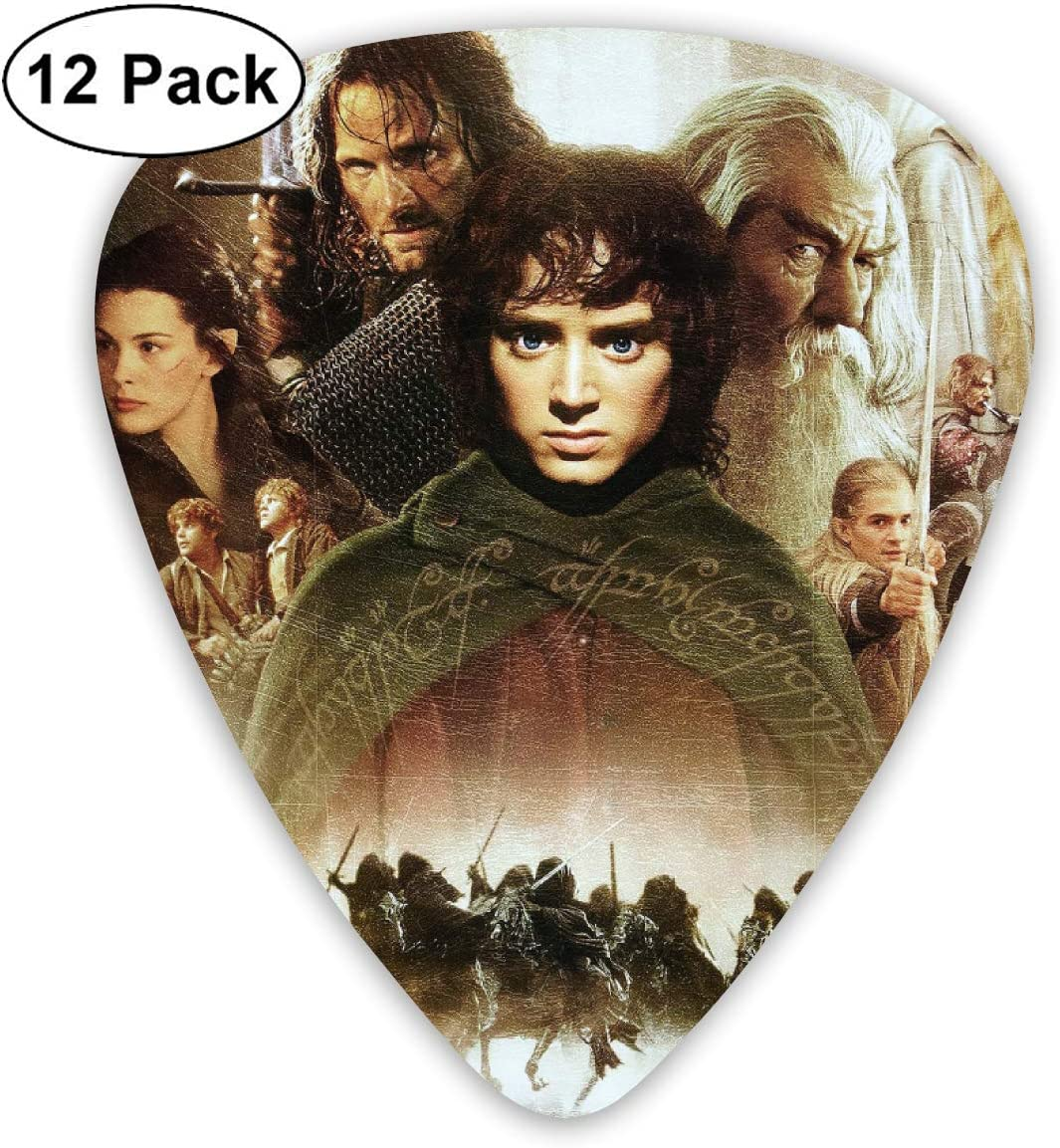 Guitar Picks The Lord of The Rings Guitar Picks 12-Pack For Electric Guitar And Guitar Bass-98 Mandolin Acoustic Guitar