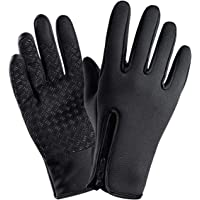 ROSEBEAR Winter Windproof Gloves,Waterproof Warm Fleece Lined Touch Screen Gloves,Great for Cycling Climbing Hiking…