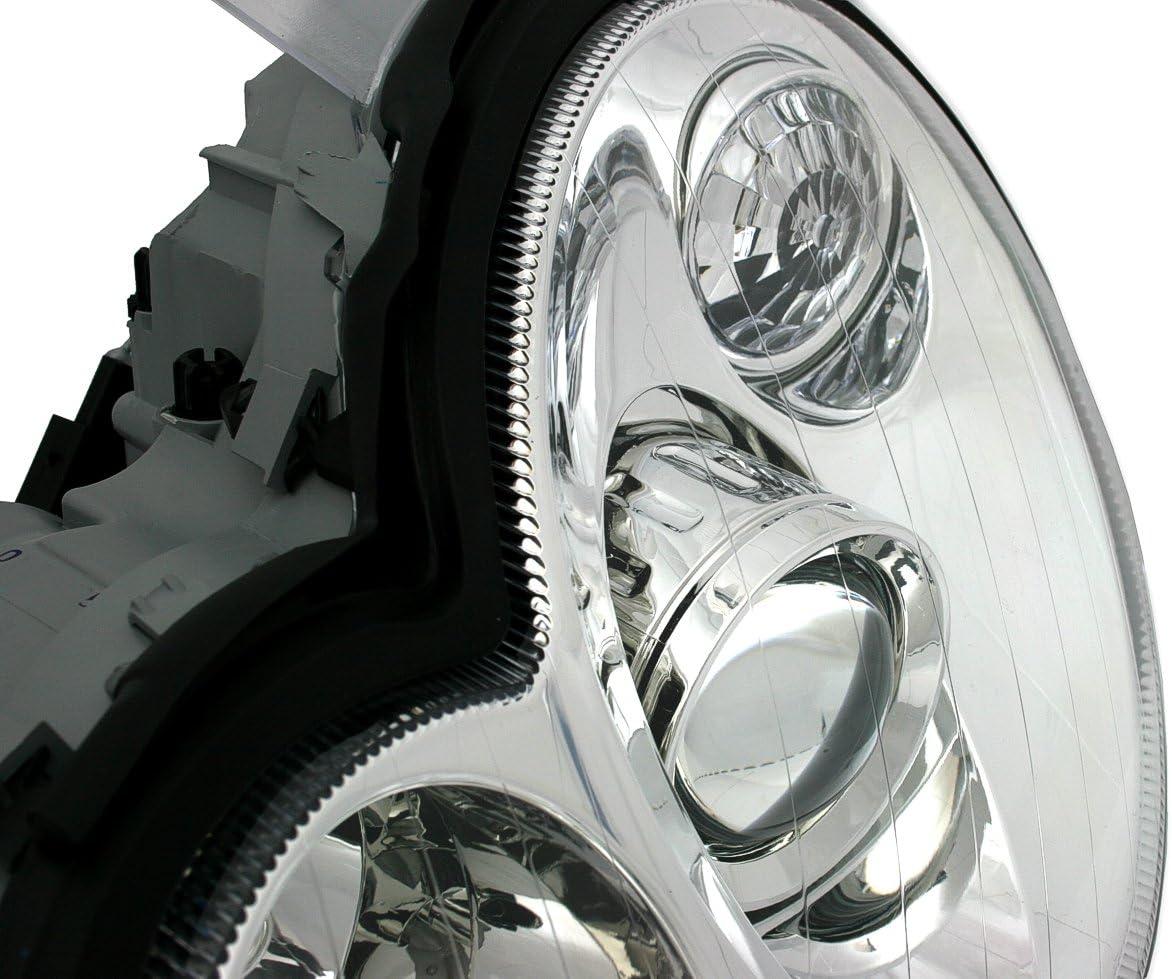 KG DEPO hal/ógeno Faro Set Transparente Cristal Cromo AD Tuning GmbH /& Co