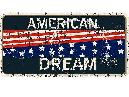 Oedim Matricula Decorativa 30,00 cm x 15,00 cm American Dream | Decoración