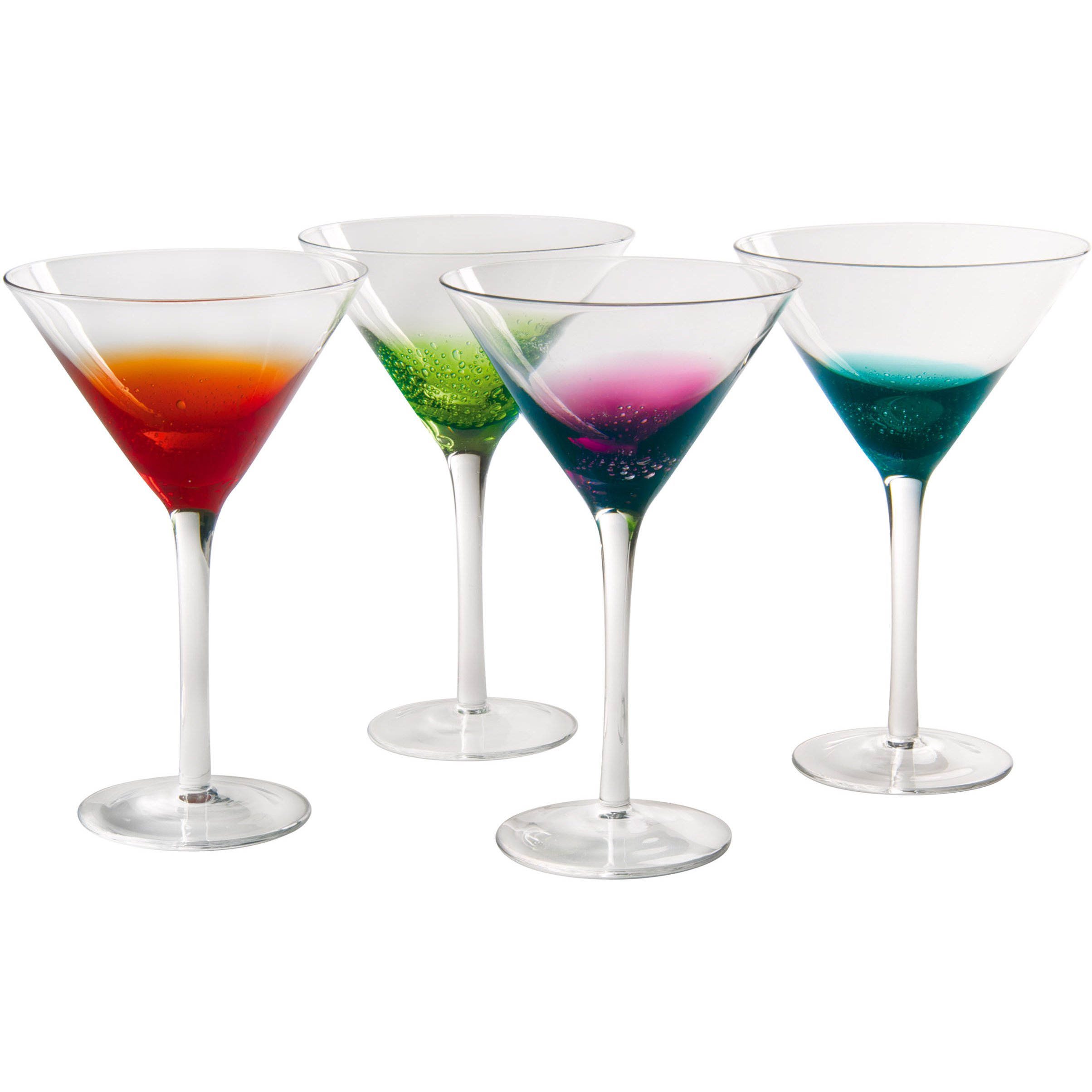 Artland Fizzy Martini, Multi-Colored, Set of 4