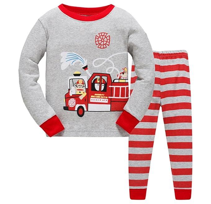 4b567870b Amazon.com  Little Boys Pajamas Sets For Car and Plane 100% Cotton ...