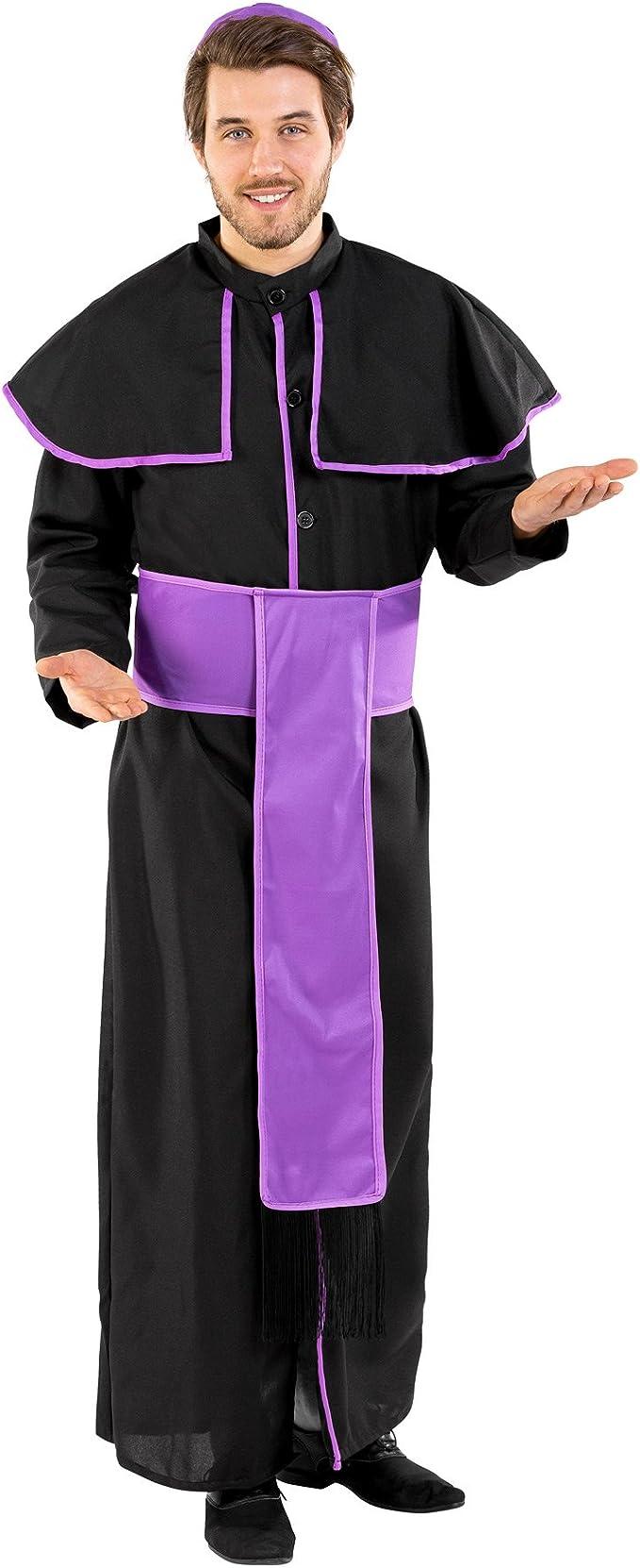 TecTake dressforfun Disfraz para Hombre de Sacerdote benedictino ...