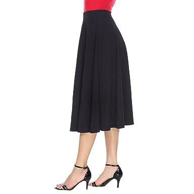 7cb032a2f14 White Mark Women s Tasmin Flare Midi Skirt at Amazon Women s ...