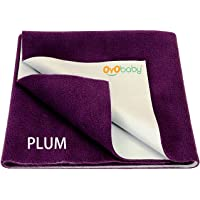 OYO Baby Waterproof Bed Protector for Just Born Babies, Small, Plum (70 cm x 50 cm)