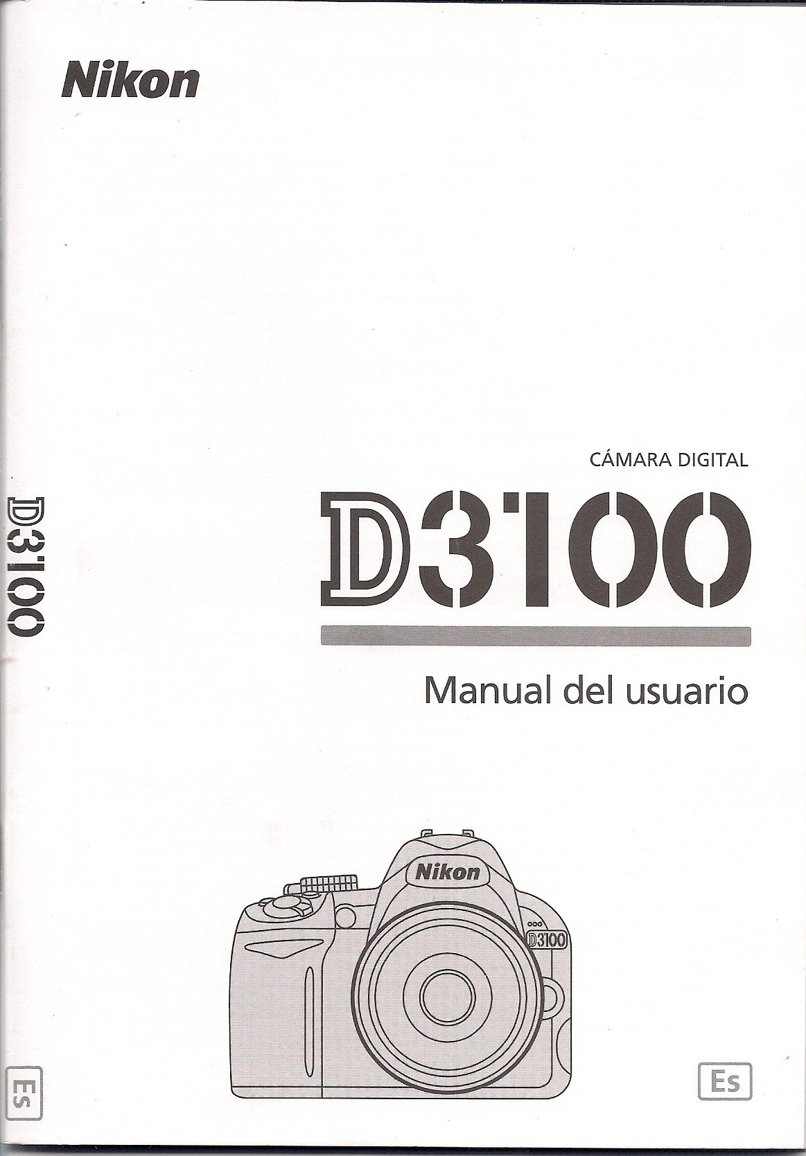 Nikon D3100 Camara Manual del usuario Español: Nikon: Amazon