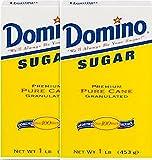 Domino Sugar, Pure Cane Granulated, 2 lbs (2 x 1lb boxes)