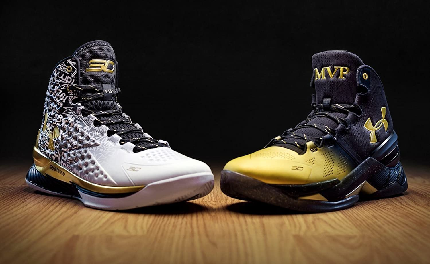 Amazon.com | Under Armour Curry BACK 2 BACK MVP Pack (2 pairs)-1300015-001  - June 2016 Men's Shoe SIZE | Basketball