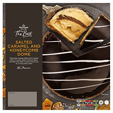 Morrisons The Best Salted Caramel Honeycomb Dome Gateau 600 G