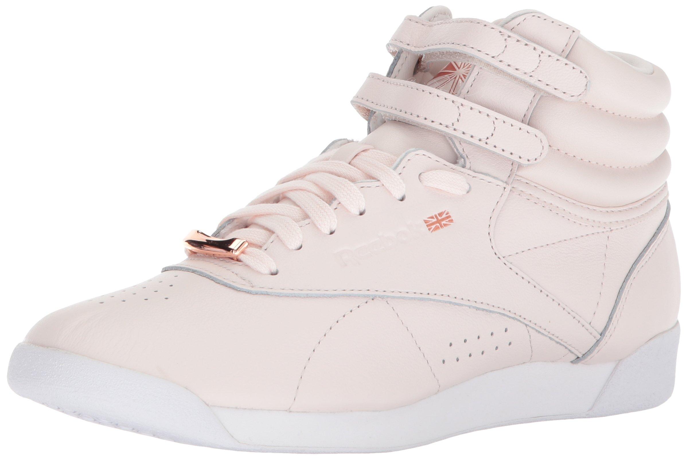 Reebok Women's F/S Hi Muted Walking Shoe, Pale Pink/White/Cool Shadow, 8.5 M US