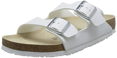 93f38f6715 Birkenstock Unisex Arizona White Sandals - 6-6.5 B(M) US Women