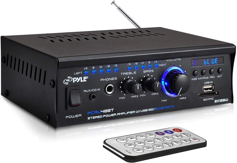 Pyle Mini Stereo Power Amplifier 2x120W Dual Channel Sound Audio Receiver