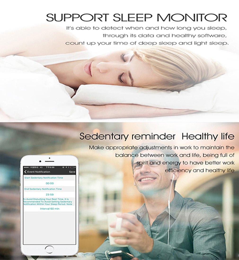 M6 2 en 1 reloj inteligente/Bluetooth inalámbrico auriculares Bracelete, Mini banda con actividad Fitness Tracker muñeca reloj pulsera Monitor de ritmo de ...