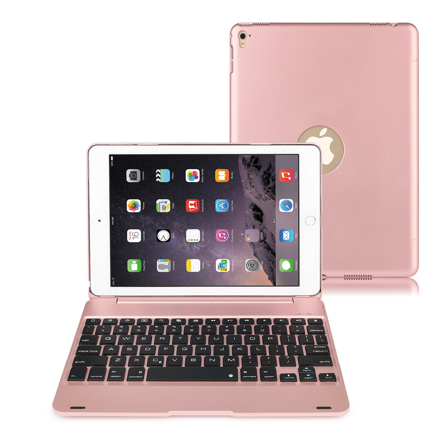 iPad Pro 9.7 Keyboard Case, kiwitatá Wireless Bluetooth Keyboard Portable Laptop Macbook Hard Shell Protective Case Cover for Apple iPad Air 2 / Pro 9.7 (NOT for 2017 New iPad 9.7) kiwitata A001-045