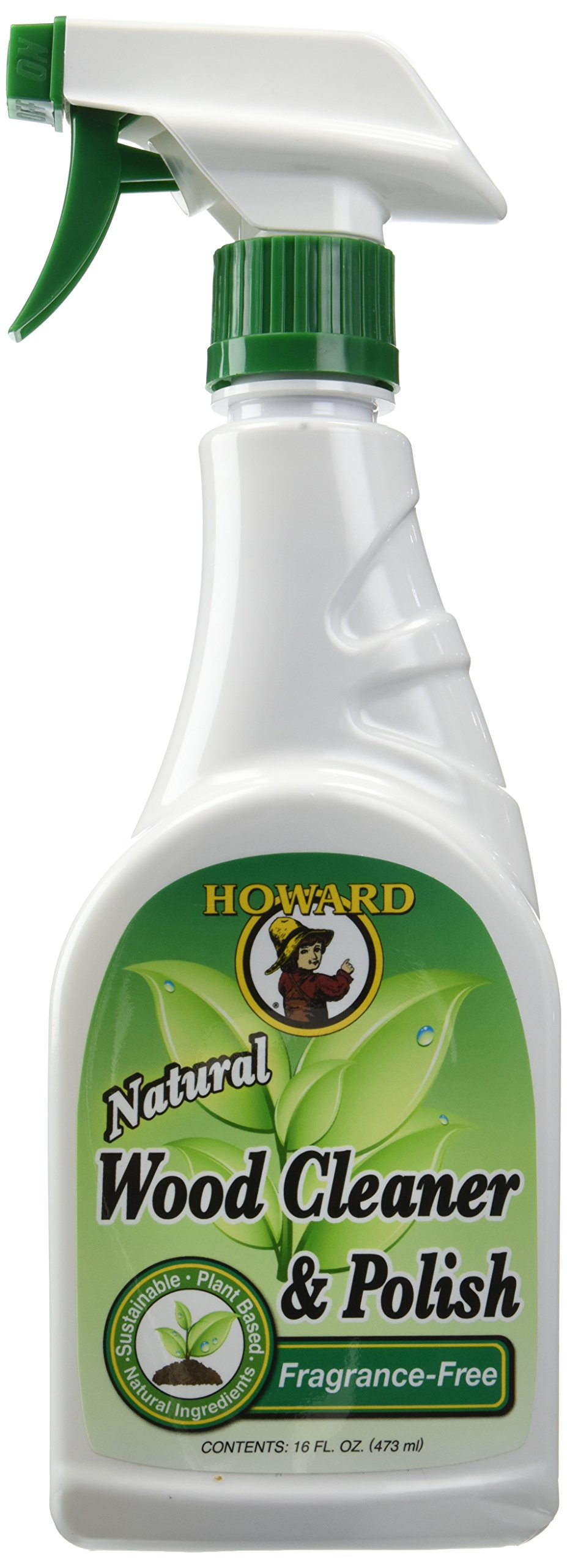 Howard Products Natural Stainless Steel Cleaner Trigger Spray (2-Pack, Fragrance-Free)