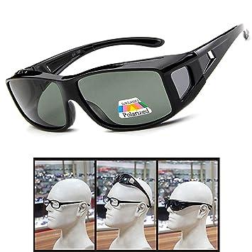 Fit Over Glasses Sunglasses Polarized Lenses Men Women Wear Over  Prescription Glasses Outdoor Sports Sunglasses UV400 (black1) 63acc5952f