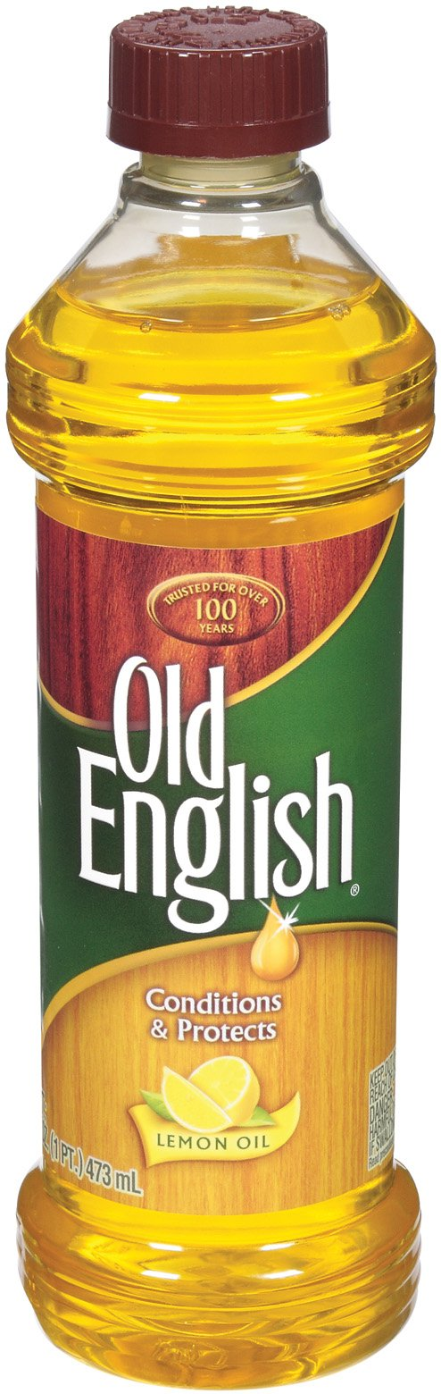 Old English Conditions & Protects Wood Furniture Polish, Lemon Oil 16 oz (Pack of 6)