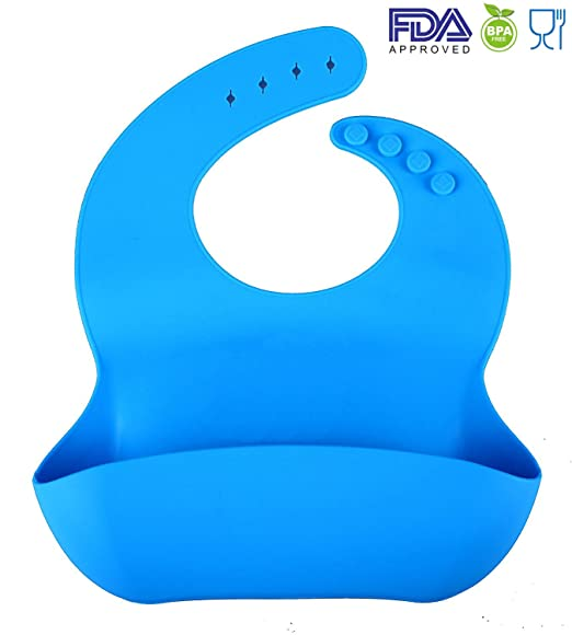 Silicon Baby Bibs FDA Approved Best Waterproof Soft Comfortable Dishwasher  Safe With Food Catcher Pocket Snaps Bib 60483760eaec