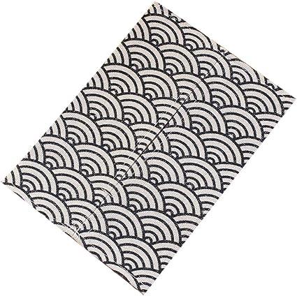 Lomsarsh Caja de pañuelos, tela hecha a mano, algodón, lino ...