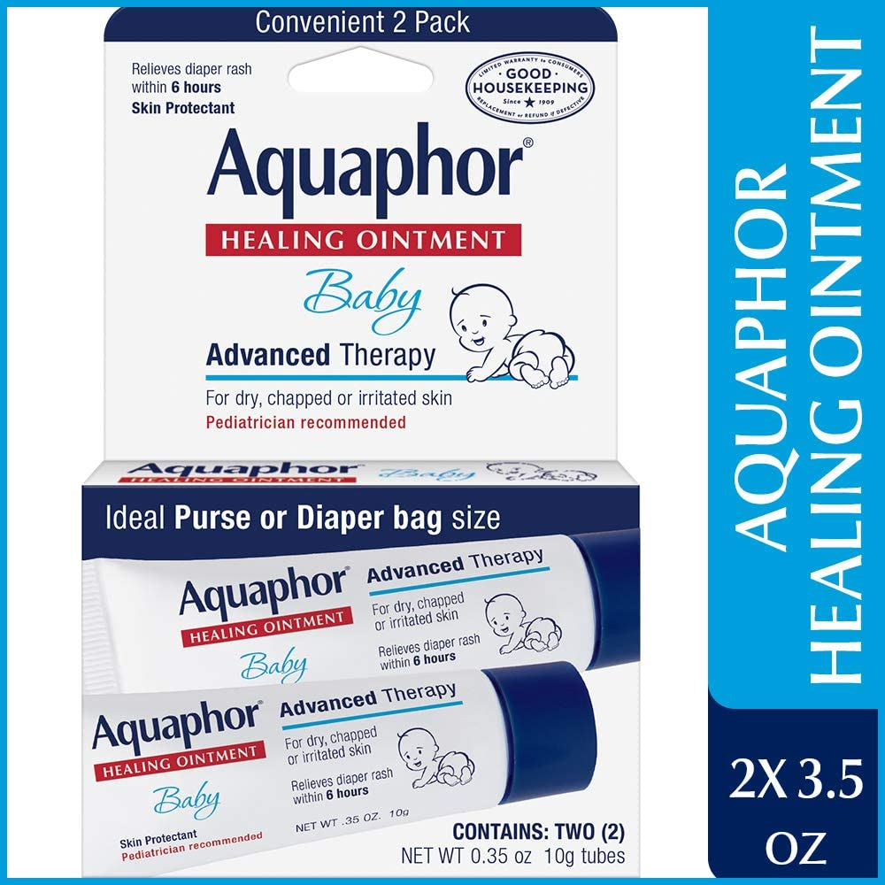 Aquaphor Baby Healing Ointment, Advanced Therapy, 2 Count (Pack of 1)