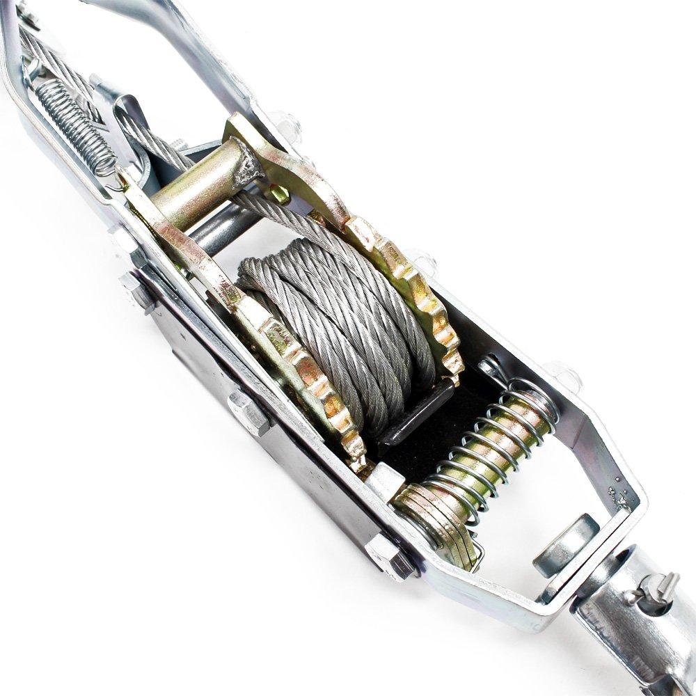 Cabrestante Manual 4000kg 3m cable palanca tracción 2 ganchos ...