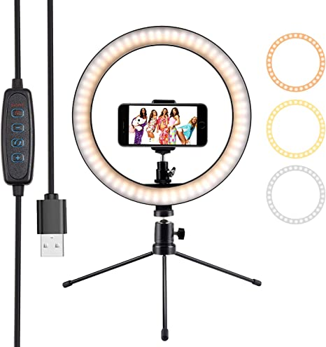 """10"""" Ring Light Selfie Light Ring With Tripod Stand"""