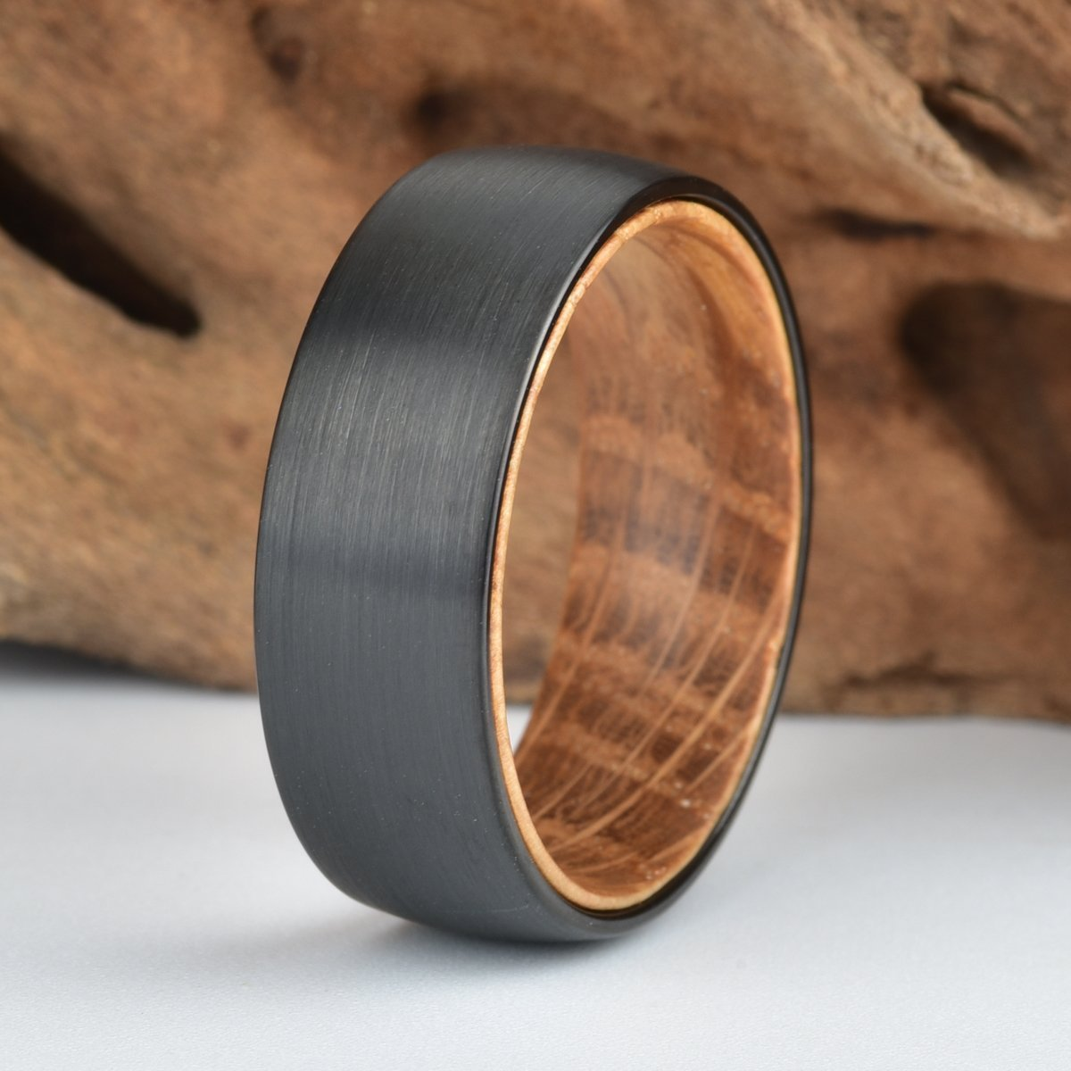 Whisky Barrel Ring Wooden Ring Wood Anniversary Whiskey Barrel Ring Wedding Band Wooden Engagement Ring
