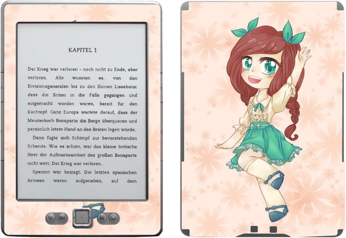 Disagu SF de 103567 _ 978 Diseño Protector de Pantalla para Amazon Kindle 4 eReader, diseño Chibi con Pelo Rojo y Flores de Color Naranja Transparente: Amazon.es: Informática