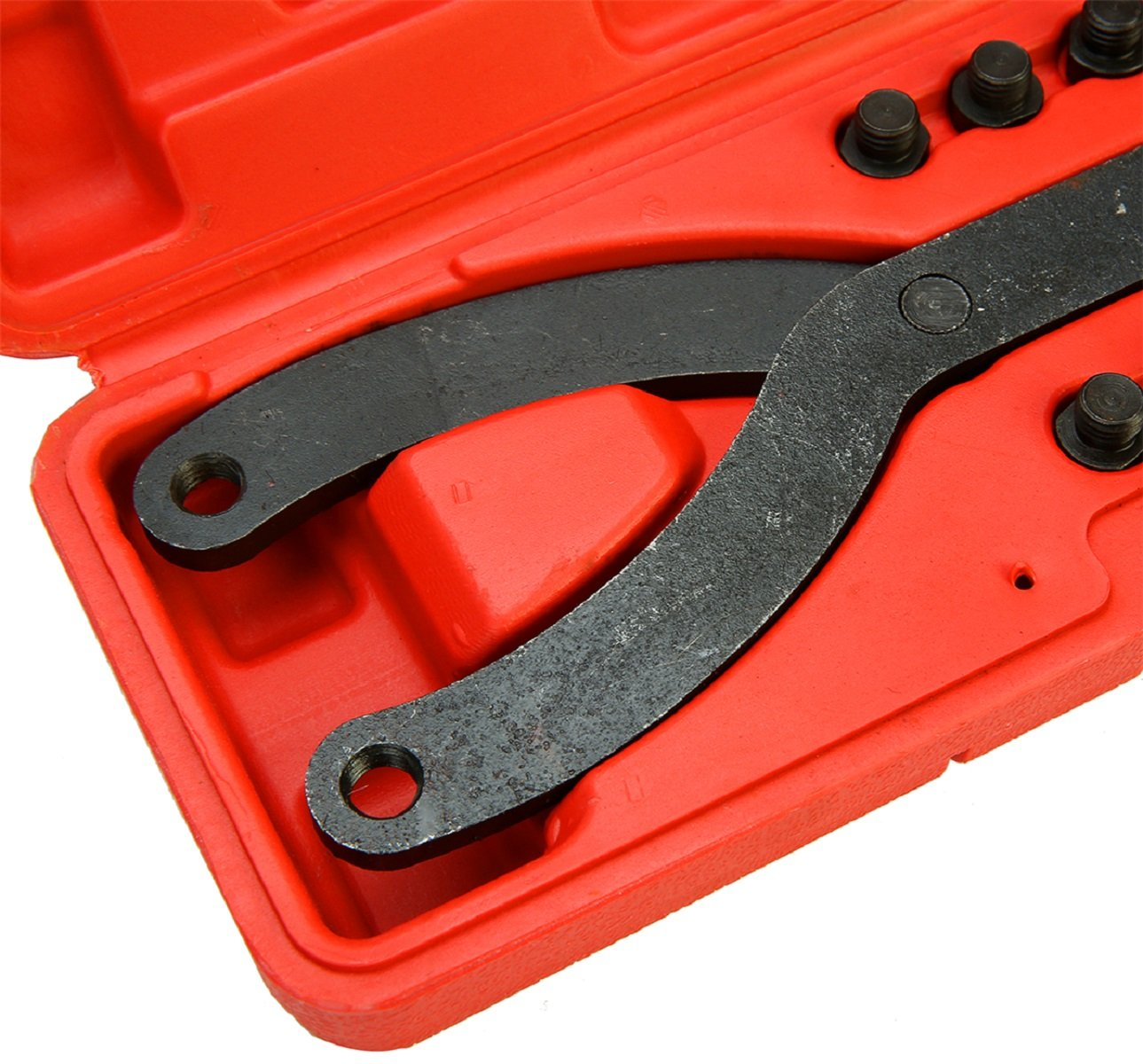 8MILELAKE Variable Pin Spanner Wrench 15 Piece Adjustable Fan Clutch Pully Holder Wrench