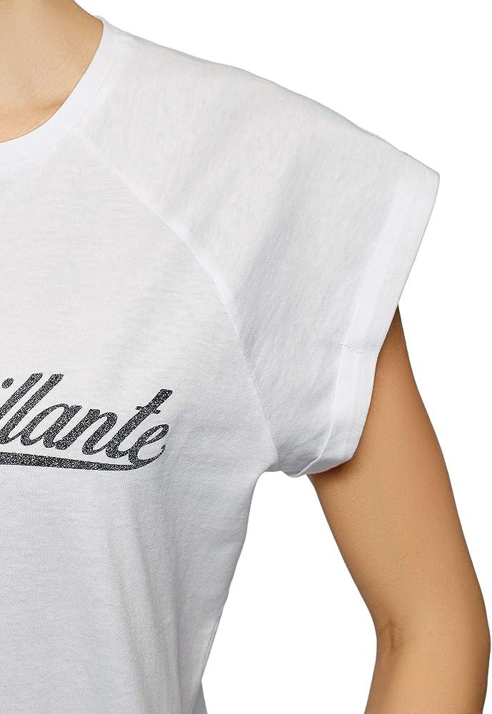 oodji Ultra Mujer Camiseta de Algodón con Mangas Raglán, Blanco, ES 34 / XXS: Amazon.es: Ropa y accesorios