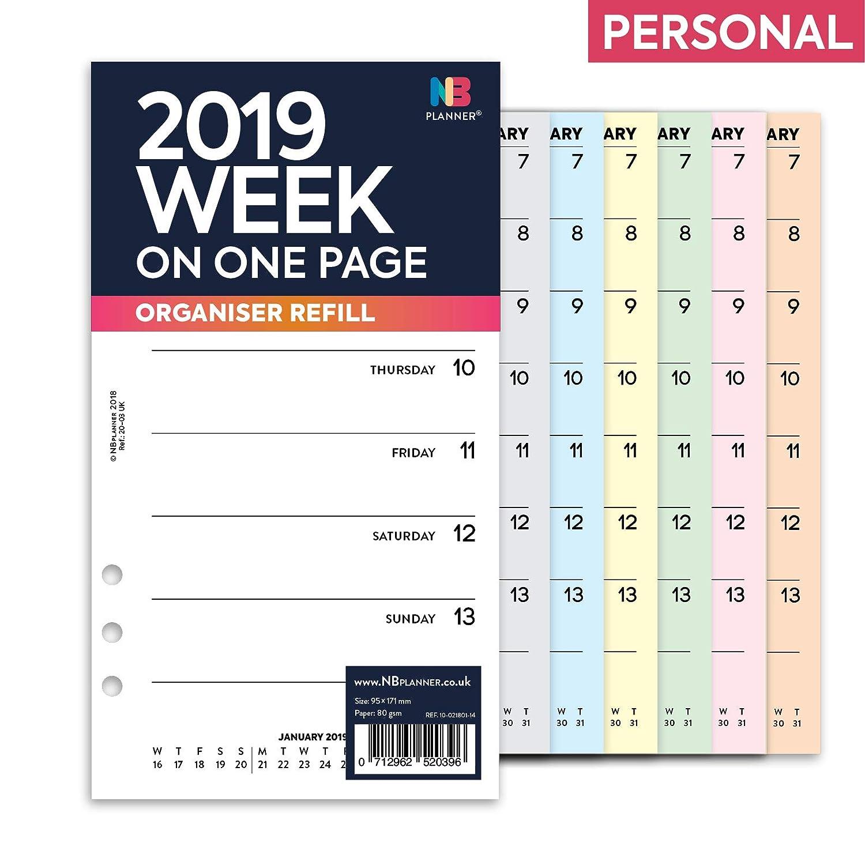 NBplanner® 2019 - Recambio para agenda de 6 anillas, color ...