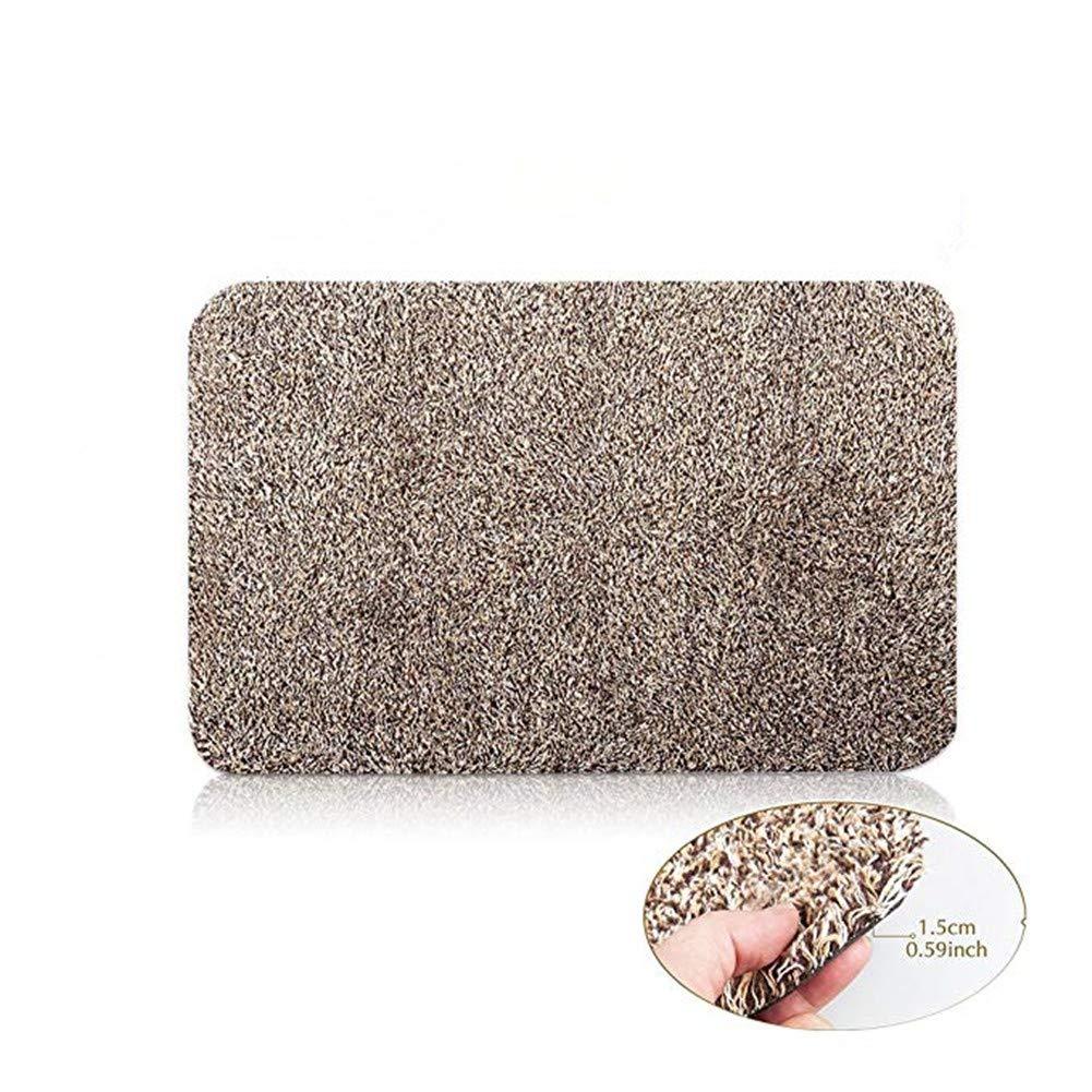 Eanpet 18''x 28'' Indoor Doormat for Home Non Slip Super-Absorbent Door Mat Absorbs Mud Carpet Traps Dirt Trapper Mat for Front Door Entryway Doormat Machine Washable Brown Fiber