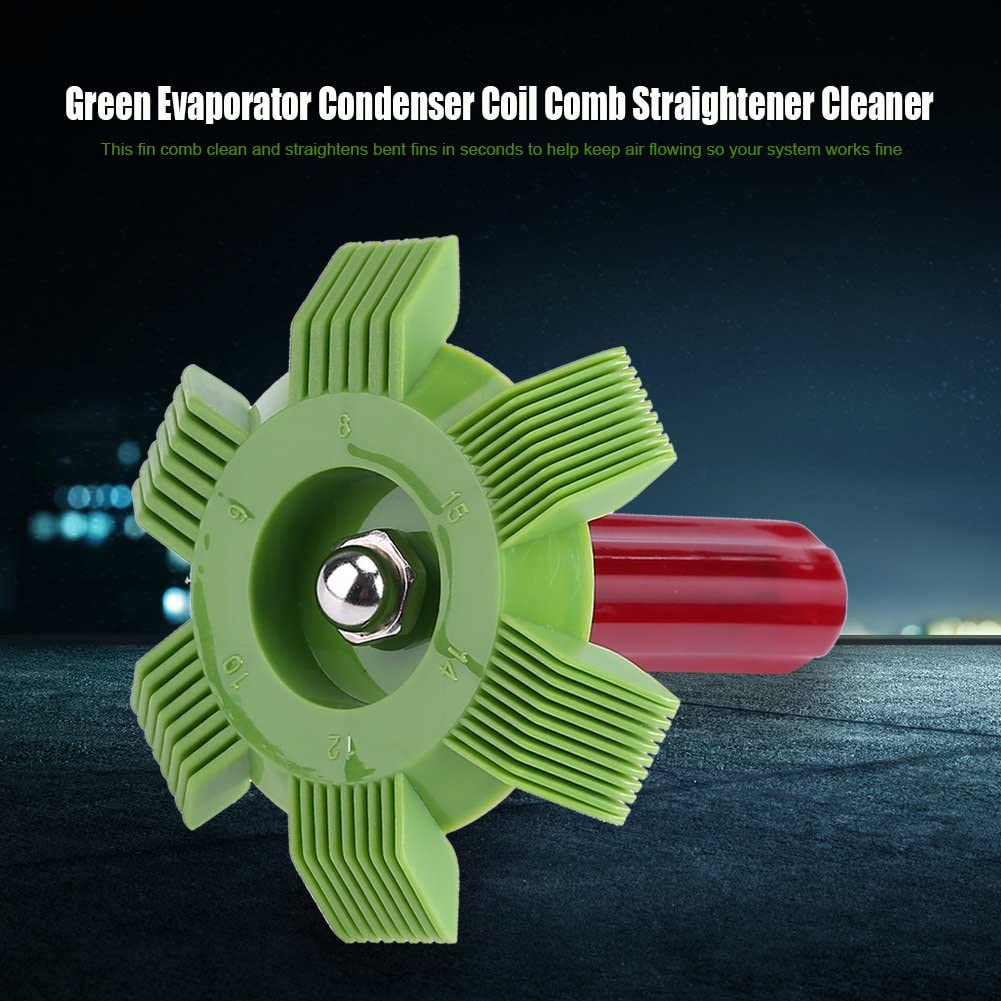 Raguso 1Pc Fin Comb Straightener Cleaner Car Automotive A//C Condenser Evaporator Comb Straightener Cleaner Air Conditioning Condenser Cleaning Tool