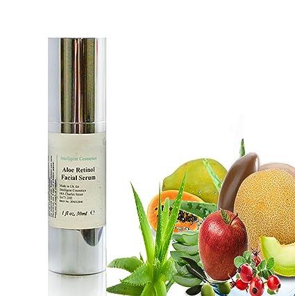 Aloe Retinol Orgánica Facial Anti Envejecimiento, anti arrugas suero Full de frutas extracto con Colágeno