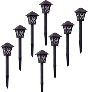Malibu Outdoor Landscape Lighting Low Voltage 8 Pack LED Pathway Light 1W Garden Lights for Lawn, Yard Patio 8405-9112-08