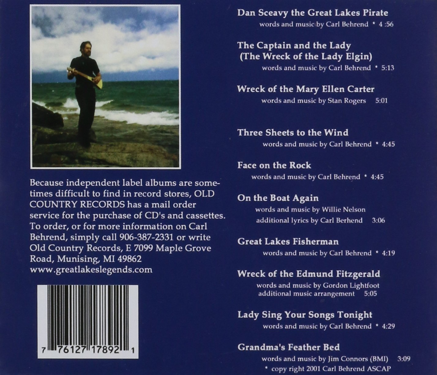 Carl Behrend More Legends Of The Great Lakes Amazon Music