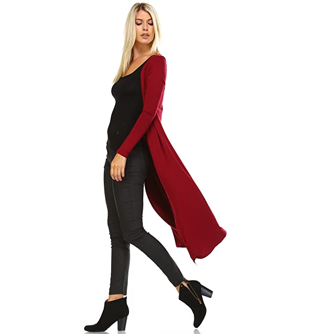 5c2046903d815 Issac Liev Isaac Liev Trendy Extra Long Duster Soft Cardigan  Amazon ...