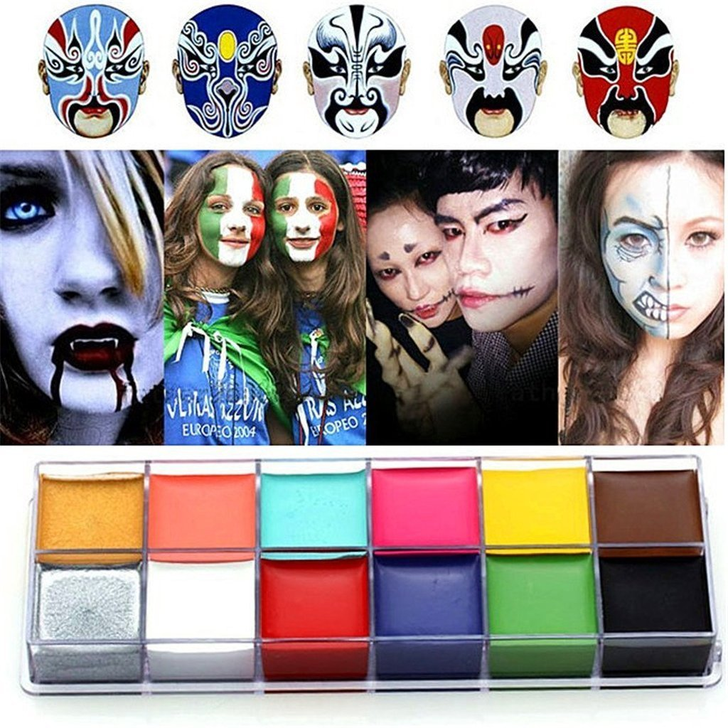 CCbeauty 3PC Set Professional Halloween Makeup kit Special Effects Stage Makeup Fake Wound Scars Wax + Oil Painting(flash color) + Spatula Tool by CCbeauty (Image #3)