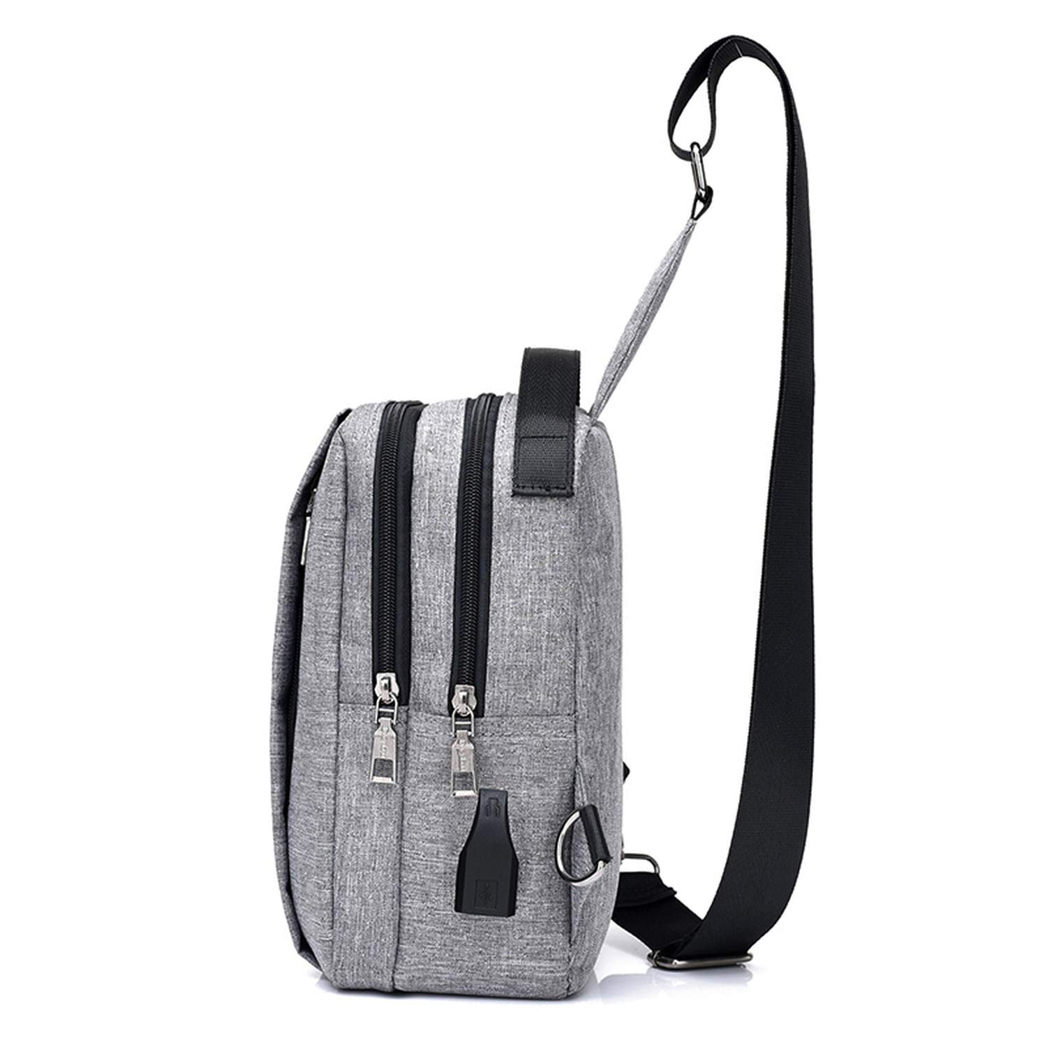 Men Messenger Bags Crossbody Slings Shoulder Chest Bags Anti theft Strap Bags Unisex Casual External USB Charge Travel Bags