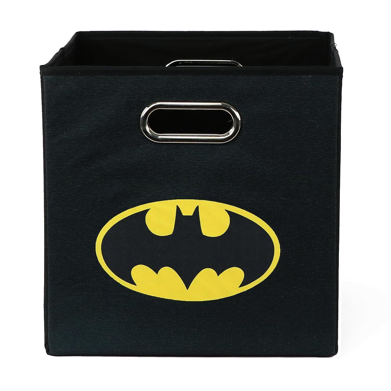 Batman Folding Storage Basket, Black - Collapsible Storage Bin for Toys - Bedroom Organizer - Foldable Bin with Large Capacity. Kid's Room Decor