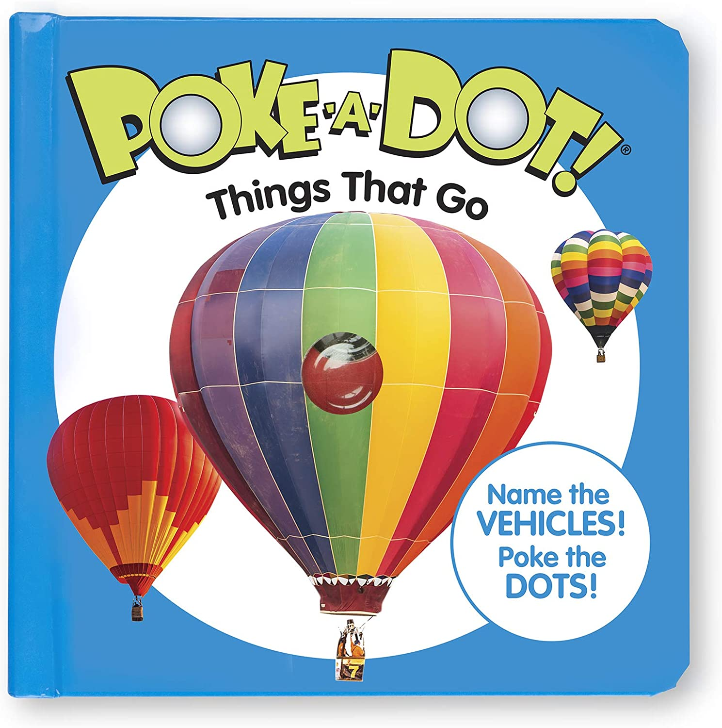 Gift for Boy or Girl 3+ Melissa /& Doug 41354 Poke-a-Dot Things That Go Activity Books