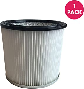 Crucial Vacuum Replacement Vacuum Filters Compatible with Shop-Vac Vacuums Cartridge Filter Parts 88-2340-02 90304 9039800 for Wet and Dry Models, 5-Gallon+ Home Vacuum Cleaners, Bulk Pack (1 Pack)