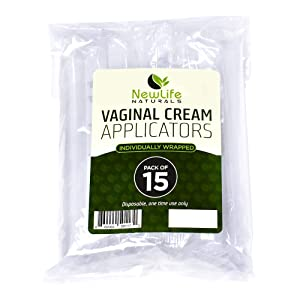 Disposable Plastic Vaginal Applicator Pack: Hygienic Threaded Injector Applicators to Fit Preseed Lubricant, Estrace, Personal Lube and OTC Gel or Cream Products - with Dosage Measurements - 15 Pack