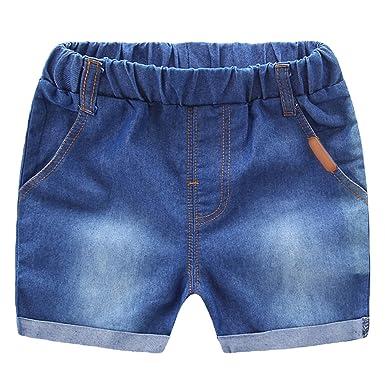 NiSeng Niños Y Niñas Cintura Elástica Vaqueros Pantalones ...