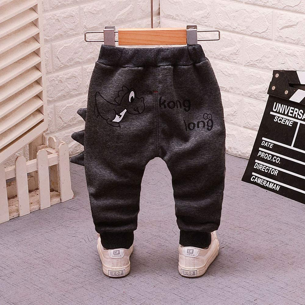 SUNBIBE 6 Months-3 Years Baby Girls Boys Winter Warm Pants Thick Cartoon Rabbit Long Ears Jogger Snow Trousers Clothes
