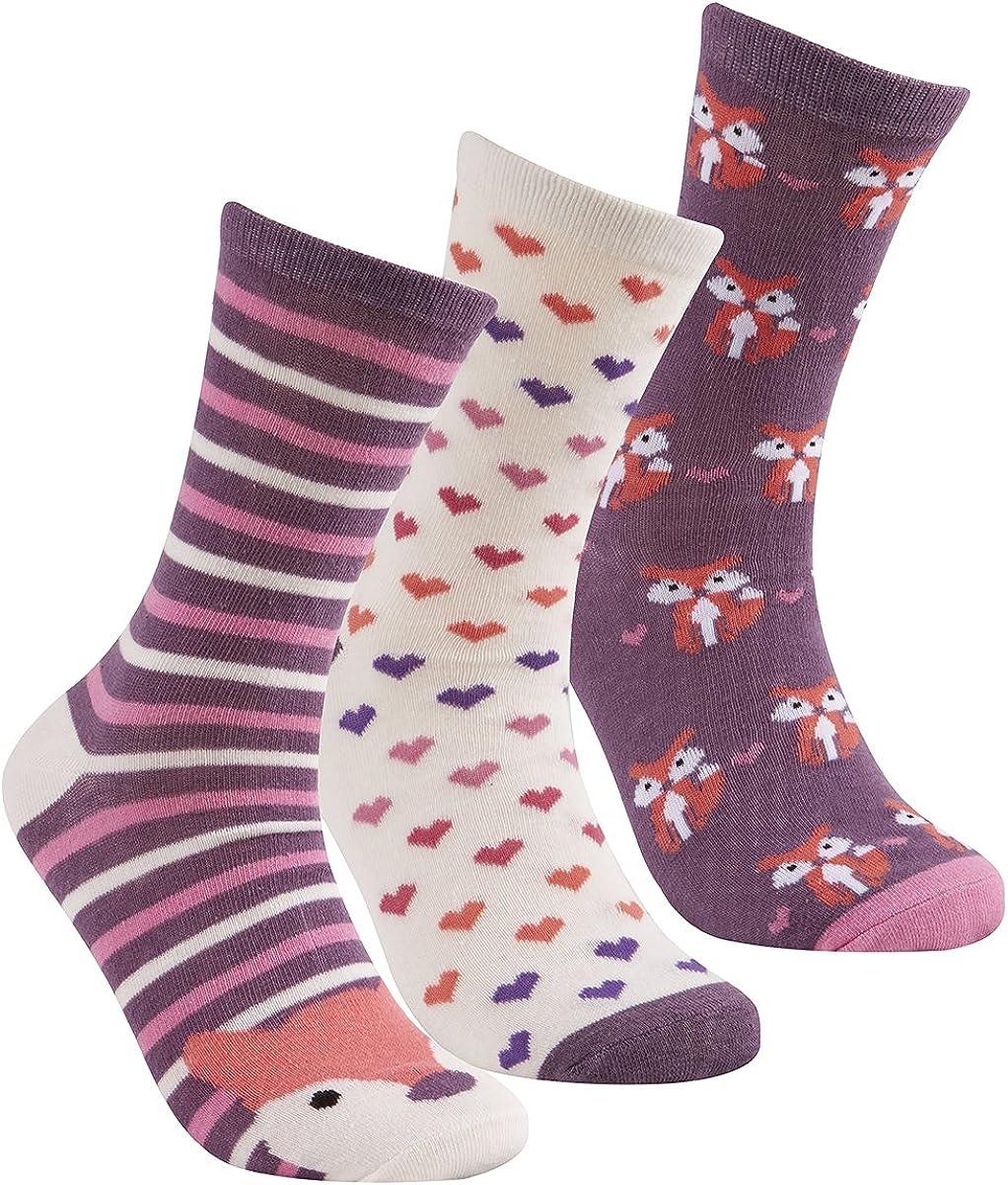 Cottonique chaussettes motif animal riches en coton pour femmes 4-8