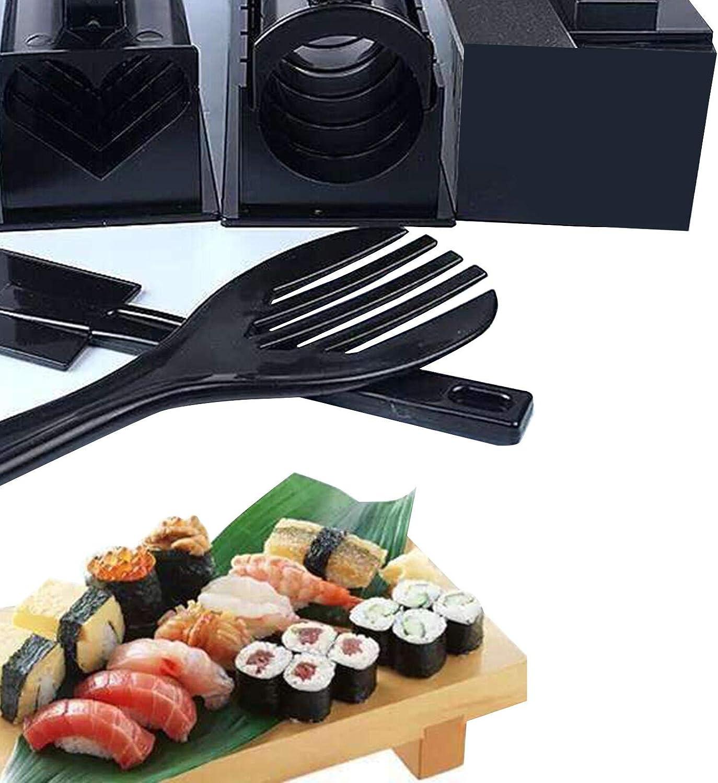 10 Piezas De Rollo De Kit De Fabricaci/ón De Sushi DIY Molde De Rollo De Arroz Para Hacer Sushi Juego De Herramientas De Sushi Kit De Fabricaci/ón De Sushi Esp/átula Con Forma De Tenedor