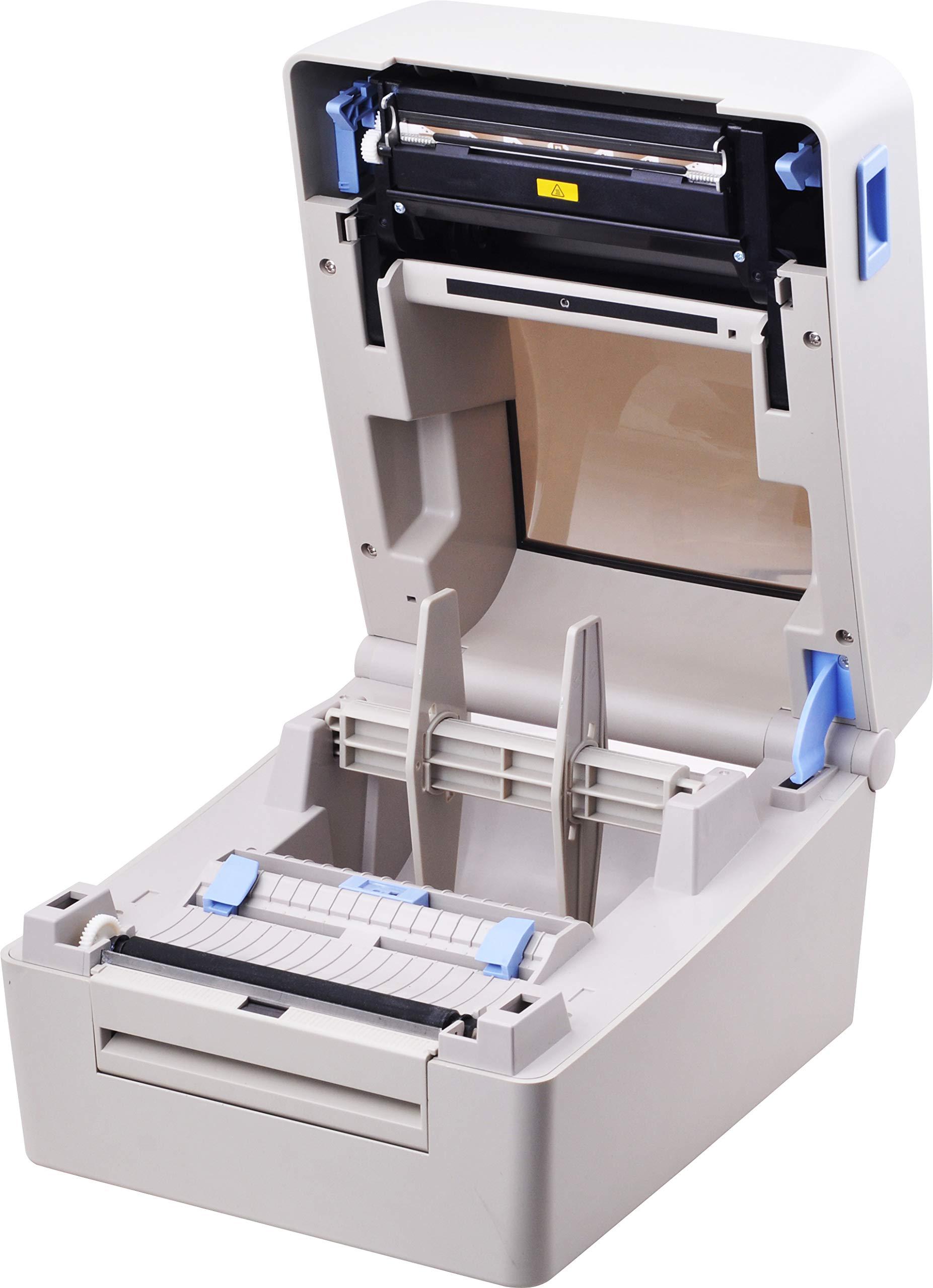 Xprinter XP-TT424B 110mm 4.3inch 203dpi Thermal and Thermal-Transfer Label Printer,Thermal and Thermal-Transfer Barcode Printer, USB 2.0 Interface by xprinter (Image #2)